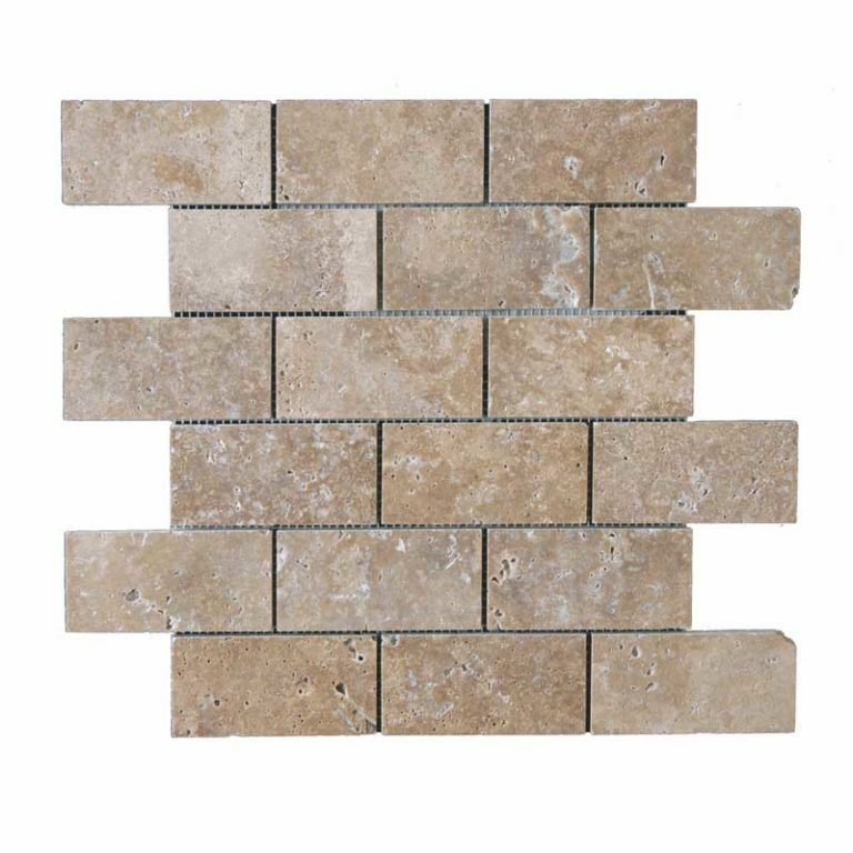 Bologna Travertine 2 in x 4 in- Noce Honed