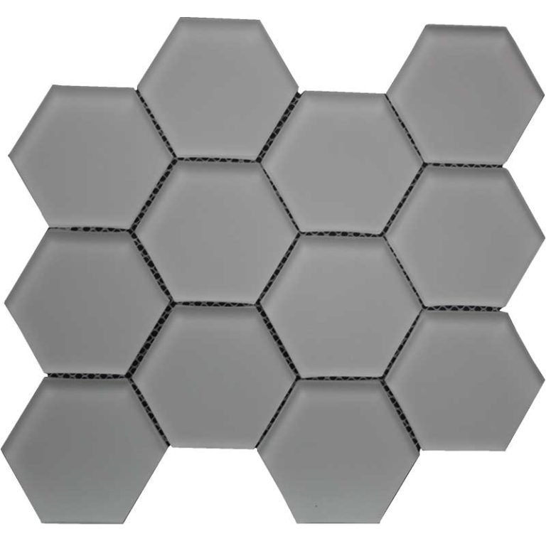 Hexagon 3 in x 3 in- Urban Mist Matte