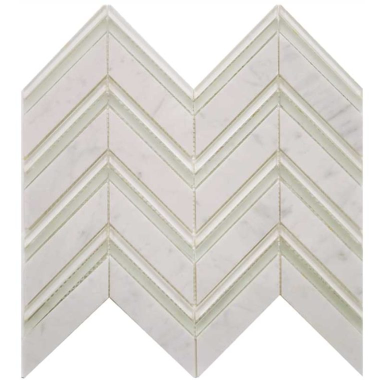 Chevron - Carrara/Mirror/Cloud Blend