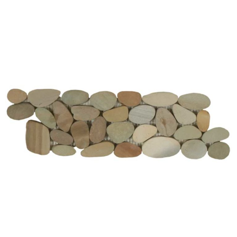 Sliced Pebble Border - Olive