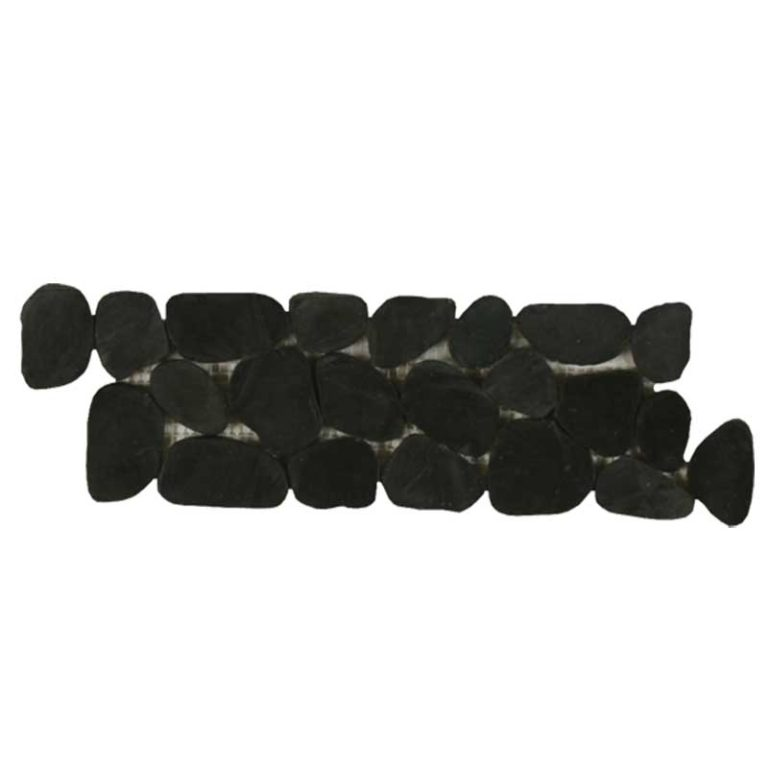 Sliced Pebble Border - Black