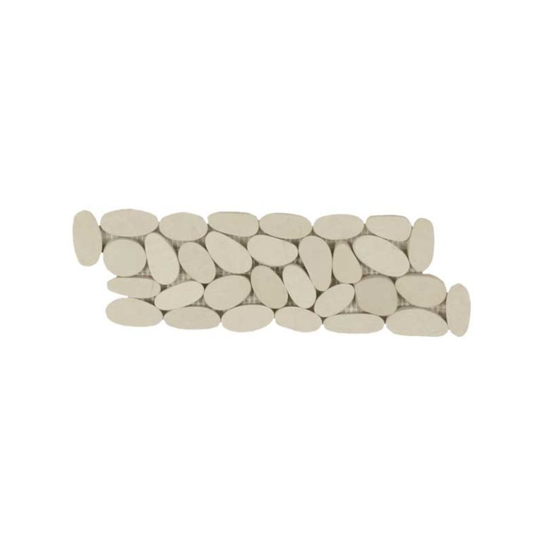 Sliced Pebble Border - Cream