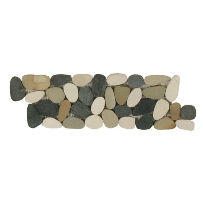 Sliced Pebble Border - Botany Bay Blend
