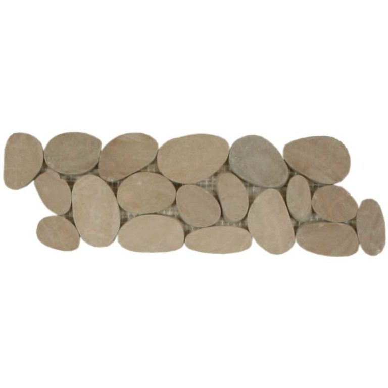 Sliced Pebble Border - Khaki