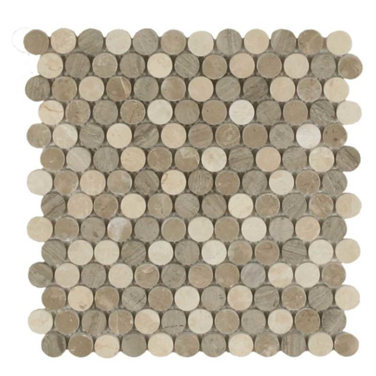 Stone Dots 7/8 in- Clay Blend Polished
