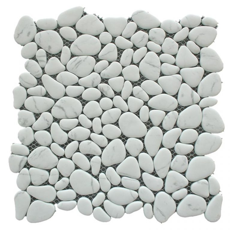 Glass Pebbles - Oasis White